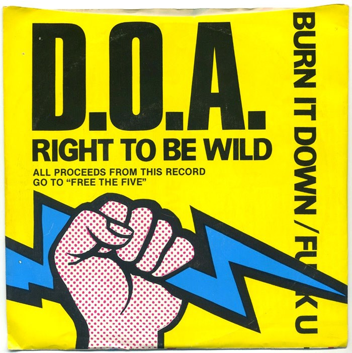 D.O.A. Free the Five benefit album for the Squamish Five. Photo ebay