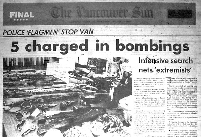 Front page of the Vancouver Sun from January 21, 1983