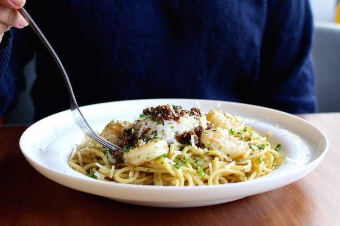 Garlic Seafood Pasta (Lindsay William-Ross/Vancouver Is Awesome)