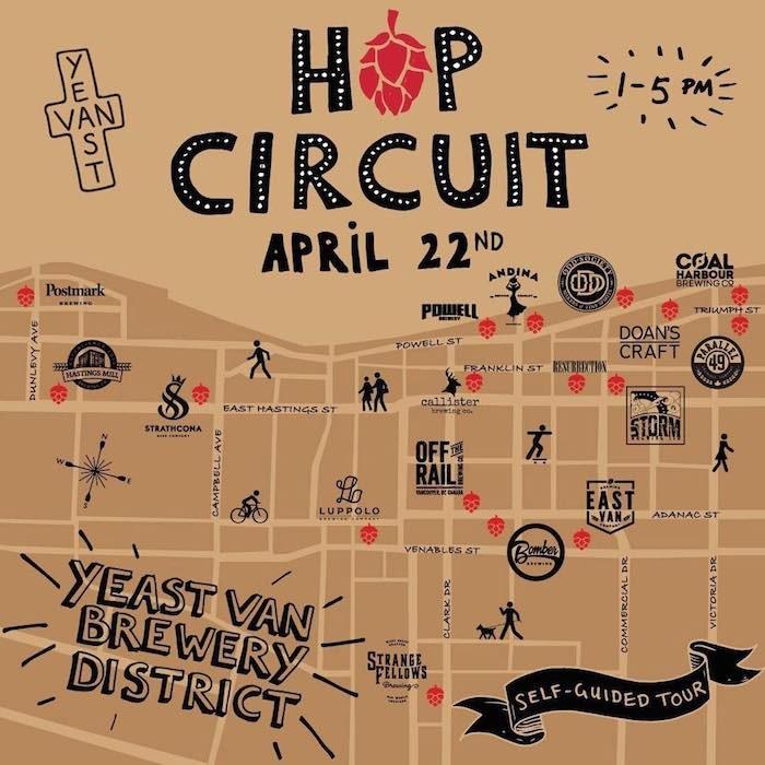 Hop Circuit 2018 map