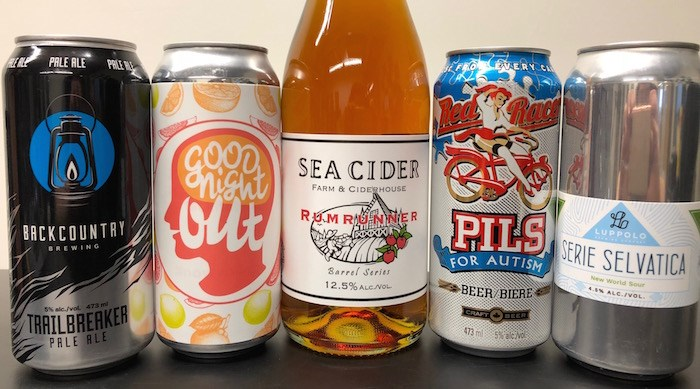 The five beers we taste during this episode (Lindsay William-Ross/Vancouver Is Awesome)