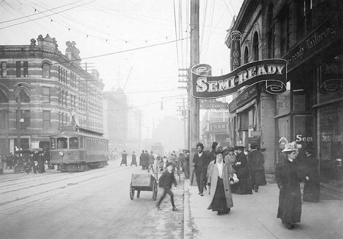 Granville Street near Pender Street, ca. 1906. Vancouver Archives item: CVA 677-529