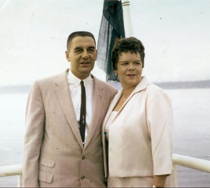 Rene Castellani and wife Esther