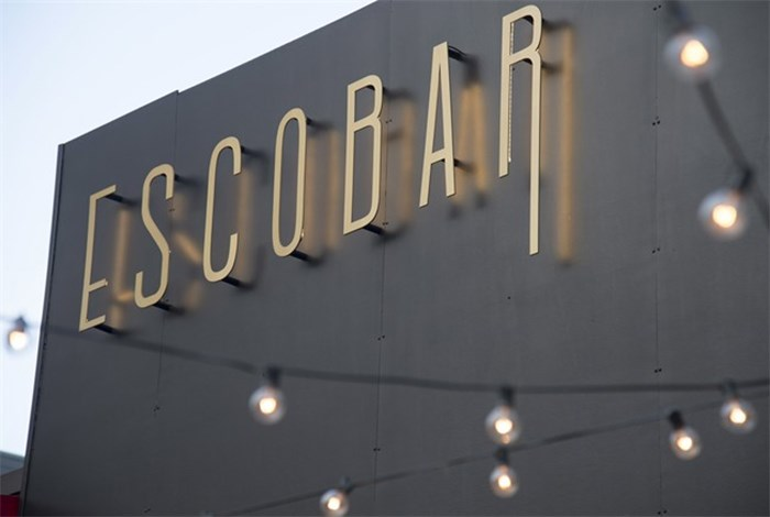 Escobar the restaurant is pictured in Vancouver, B.C., Tuesday, May, 1, 2018. A Latin-themed restaurant in Vancouver is drawing criticism for the name it shares with a famed Colombian drug lord linked to thousands of deaths. A spokeswoman for Escobar restaurant said they aren't trying to make a statement or offend anyone with the name. THE CANADIAN PRESS/Jonathan Hayward