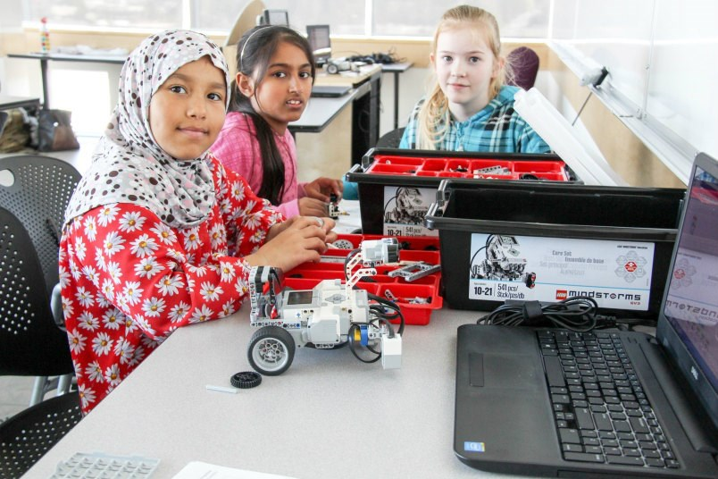 SFU offers a program that introduces coding to girls.