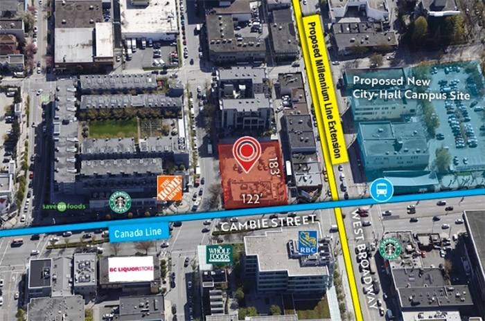 The Wendy's restaurant site at 480 West 8th Avenue, Vancouver is close to many transit infrastructure and real estate developments. | CBRE