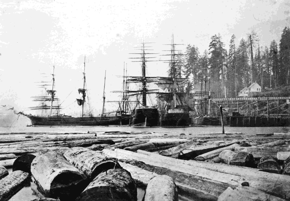 Emily Patterson nursed both Indigenous and pioneer residents of Burrard Inlet. Moodyville Wharf, ca. 1872. CVA MI P43