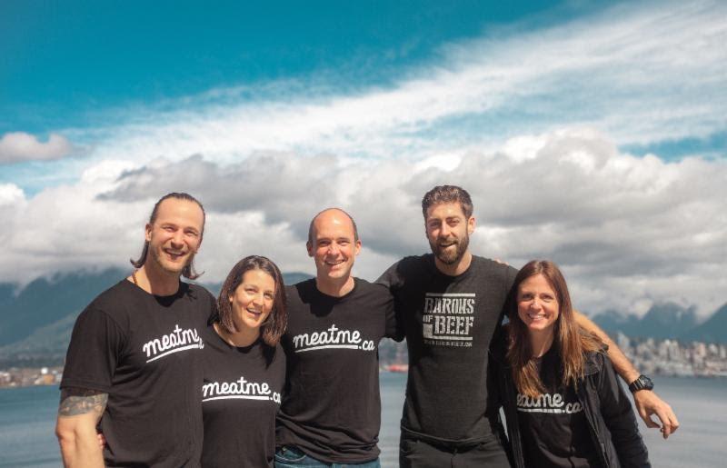 Left to right: Cam MacDougall (Baron), Dube Toich (Meatme), Victor Straatman (Meatme), Dillon Zolnierczyk (Baron), Jennifer Bear (Meatme). Photo courtesy Meatme