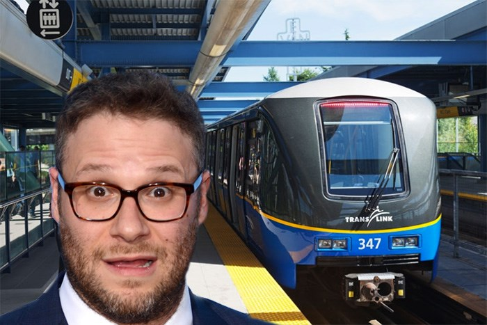 Photo: Seth Rogen (Kathy Hutchins / Shutterstock.com) and TransLink