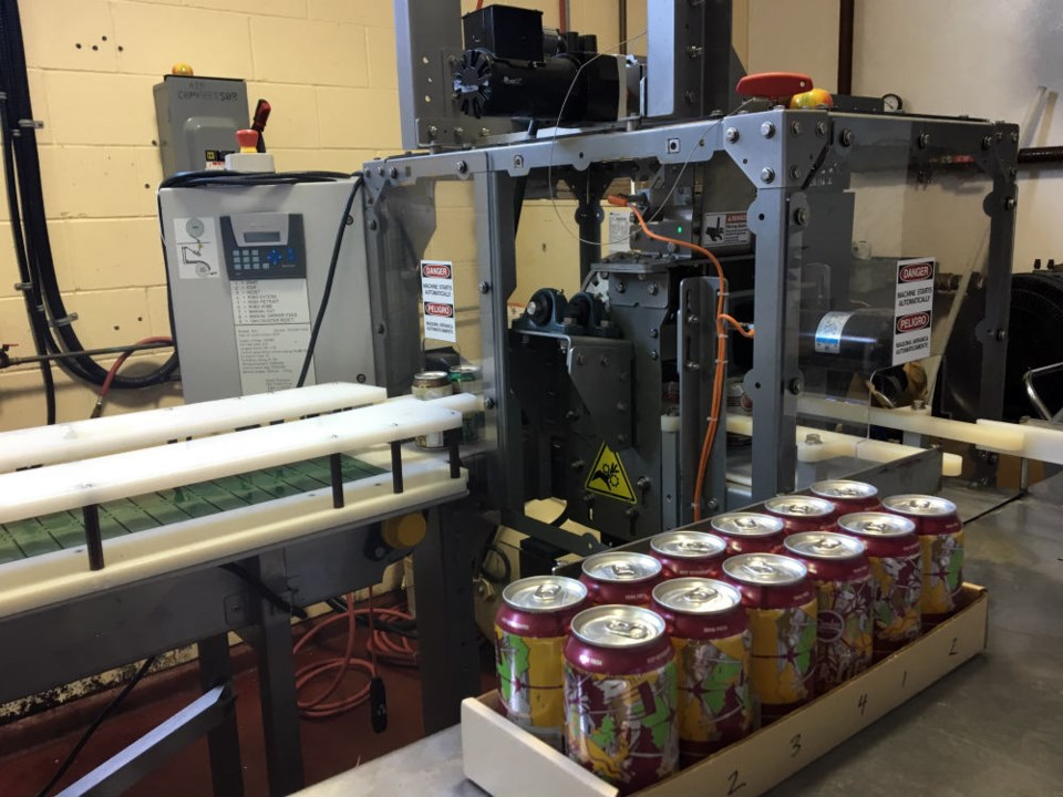 The canning machine at Bomber Brewing Photo Melissa Shaw