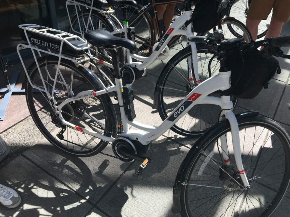 E-bikes Photo Melissa Shaw