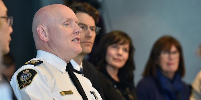 Police Chief Adam Palmer will have served eight years as chief when he retires in May 2023. Photo Dan Toulgoet