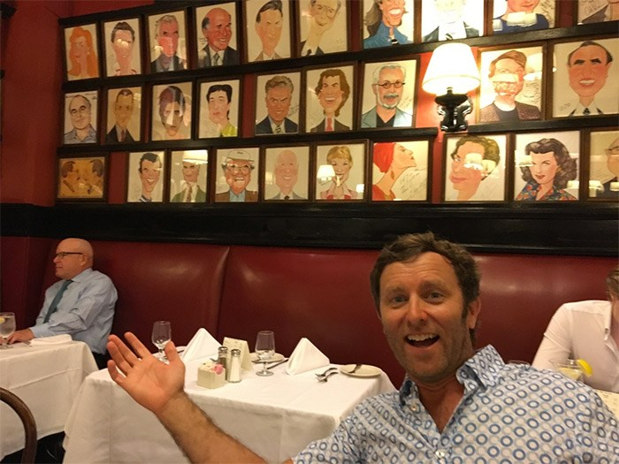 Don't miss an opportunity to have dinner at Sardi's, the legendary restaurant in Times Square where the walls are covered in celebrity caricatures and everyone dining around you looks famous, too. Photo Grant Lawrence
