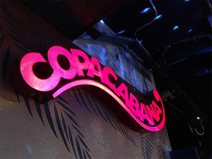 The Copacabana is a storied club that has raged through most of the popular music eras of the past 100 years, though it seems stuck in the disco era. Photo Grant Lawrence