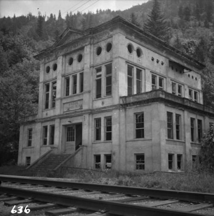 The abandoned BC Electric Sumas Substation in 1965 (