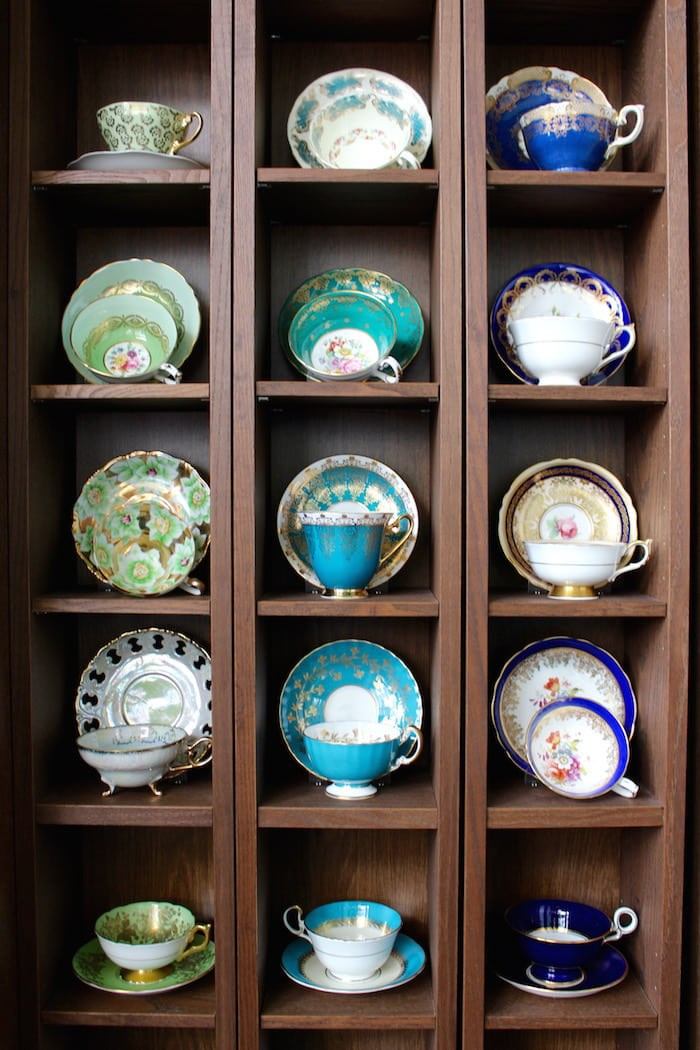 Just a fraction of owner Cathy Lai's own vintage tea cup collection (Lindsay William-Ross/Vancouver Is Awesome)