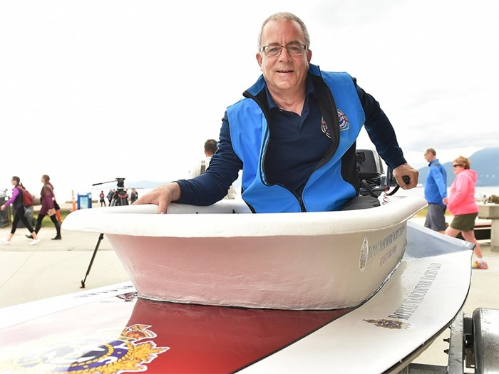 Loyal Nanaimo Bathtub Society Commodore Greg Peacock is ready to tub