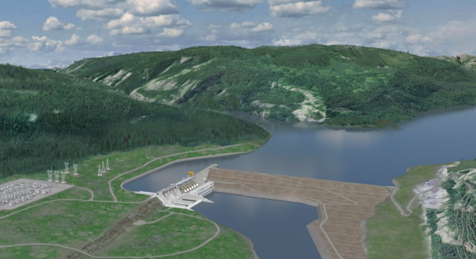 Photo - rendering of BC Hydro's Site C dam project Credit BC Hydro
