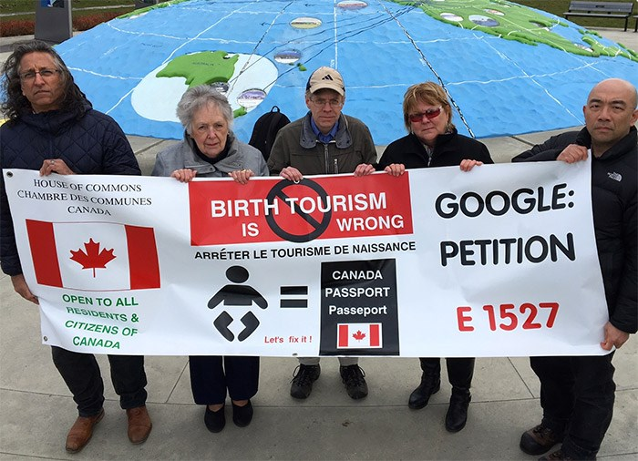 Serge Biln, Ann Merdinyan, Robert Ingves, Kerry Starchuk and Gary Liu are among the core petitioners against birth tourism. Supporting the House of Commons petition is Joe Peschisolido, who wants to first denounce the practice and understand its scope before coming up with policy solutions.