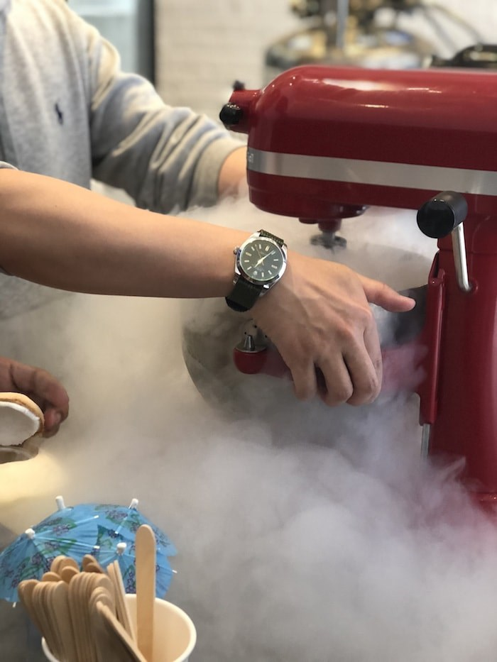 Prepping the ice cream (Lindsay William-Ross/Vancouver Is Awesome)