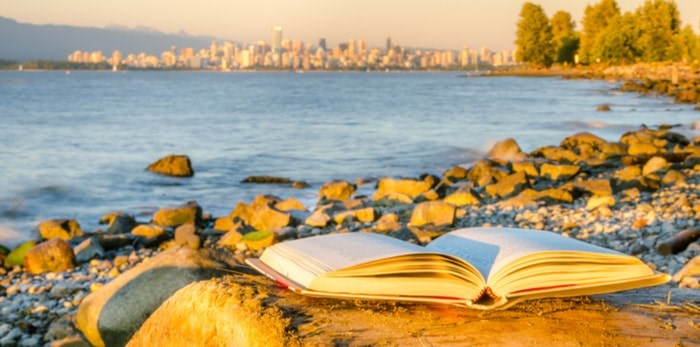 Reading a book in Vancouver/Shutterstock