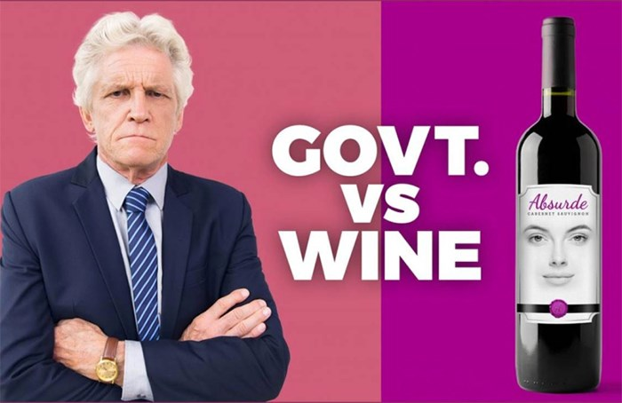 Grumpy old government takes on a beautiful bottle of cabernet sauvignon in a new ad campaign by Canadian wine makers.