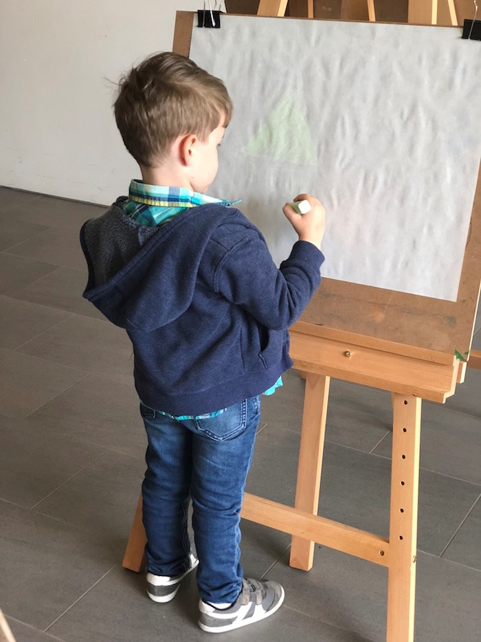 On Sundays, kids can try their hand at creating some art at the Audain (Lindsay William-Ross/Vancouver Is Awesome)