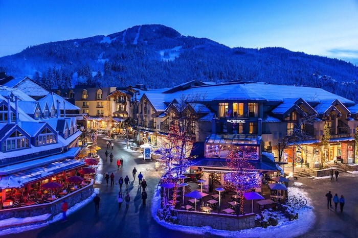 Crystal Lodge in Whistler Village as seen during the colder months (Photo courtesy Crystal Lodge)