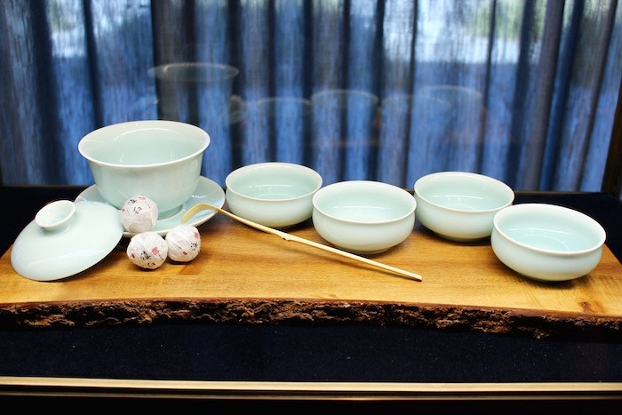 Handmade tea cup set for sale in the gallery (Lindsay William-Ross/Vancouver Is Awesome)