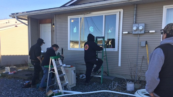 The Heiltsuk used the heat pump installation project to train members in their installation and maintenance. | Submitted