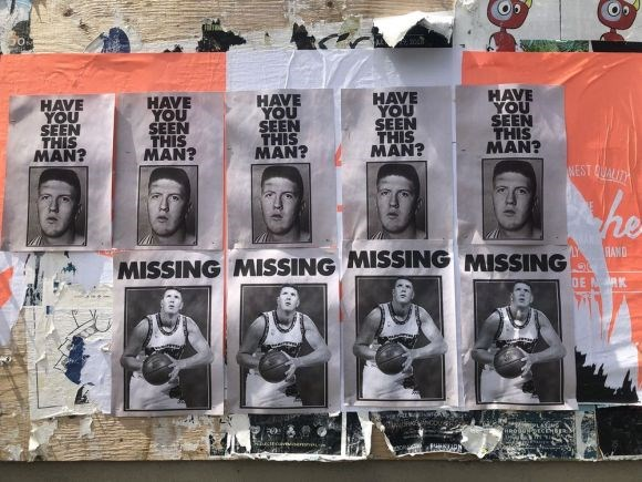 Have you seen this Bryant Reeves posters around the city? Photo Bob Kronbauer