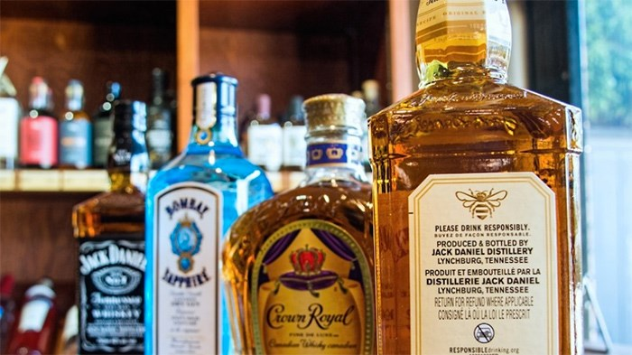 Manufacturers of hard alcohol do not need to list ingredients on labels, as manufacturers of non-alcoholic beverages are required to do | Chung Chow