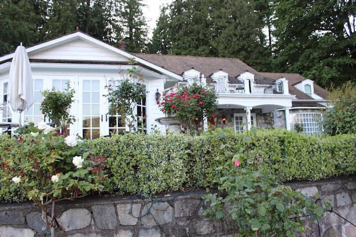 The main house at Rowena's. It's used for it's beautiful sitting rooms, as well as set up for dinner scenes in the TV movies (Lindsay William-Ross/Vancouver Is Awesome)