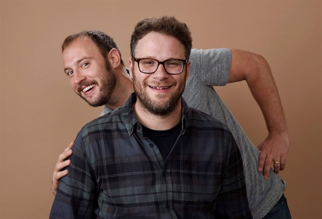 Evan Goldberg, left, and Seth Rogen, co-writers and co-producers of