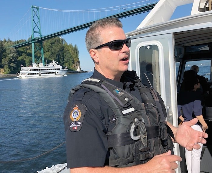 Vancouver Police Department marine unit Const. Jamie Gibson is asking boaters to show some common sense on the water - photo Brent Richter, North Shore News
