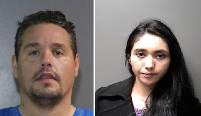 RCMP are accusing Kevin Caron and Jennilee Weiler of seven break-and-enters.