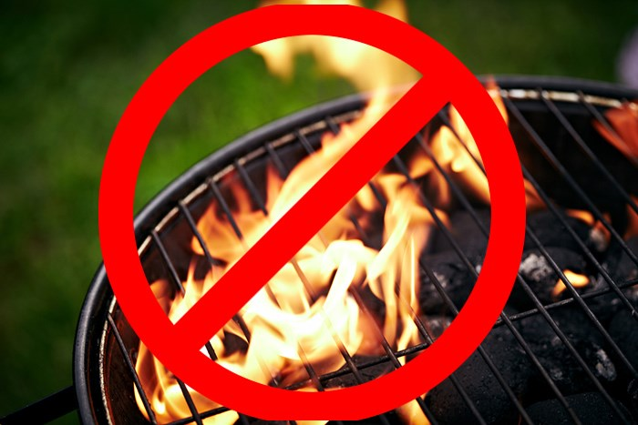 That's a charcoal BBQ right there. Don't do it. Photo Shutterstock