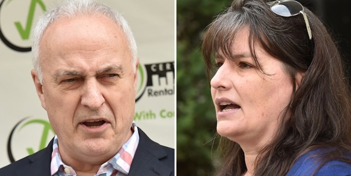 David Hutniak, CEO of LandlordBC, and Karen Sawatzky, chair of Vancouver's Renters Advisory Committee, says the need for more purpose-built rental housing is great. Photo Dan Toulgoet