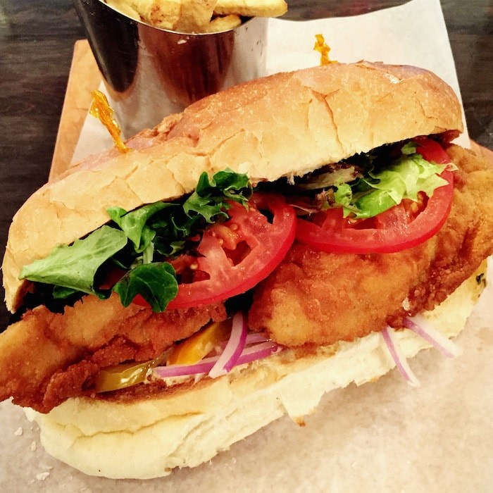 Fried oyster sandwich at Bow & Stern (Lindsay William-Ross/Vancouver Is Awesome)