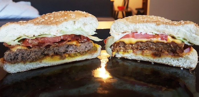 Which is meat and which is Beyond Meat? (Elisia Seeber/Vancouver Courier)