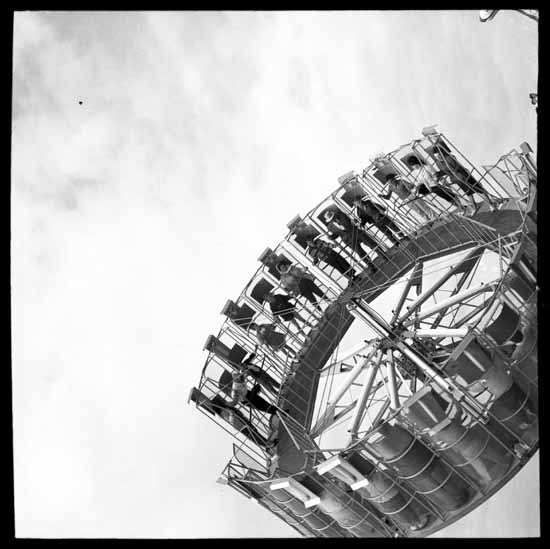 Centrifugal Force Ride at P.N.E. Playland in the 1950s (Vancouver Public Library)
