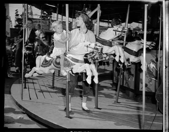 The Carousel at Playland in the 1950s (Vancouver public Library)