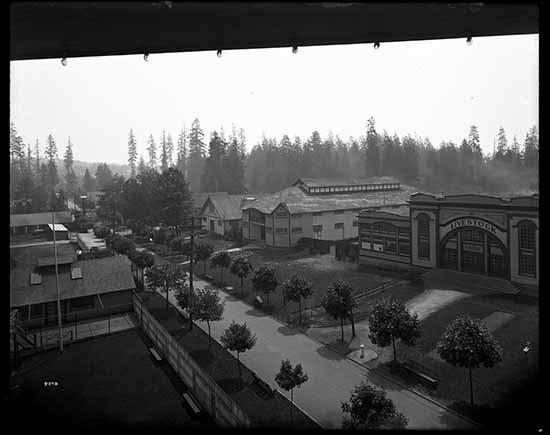 PNE livestock barns, 1922 (Vancouver Public Library)