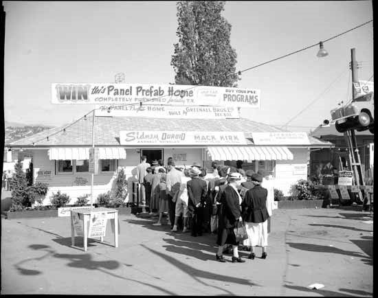 The PNE prize home, 1950s (Vancouver Public Library)