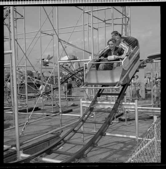 Roller coaster at Playland, 1960 (Vancouver Public Library)