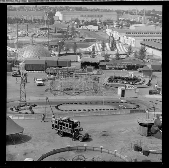 PNE and Playland grounds, 1960 (Vancouver Public Library)