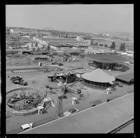 PNE and Playland grounds, 1961 (Vancouver Public Library)