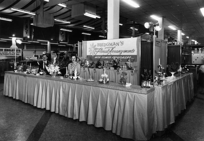 Floral display at the PNE, 1961 (Vancouver Archives)