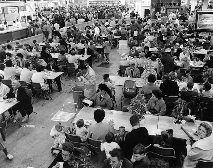 Crowds inside the Pure Foods building, 1965 (Vancouver Archives)