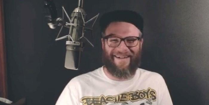 Seth Rogen recording for TransLink (Screenshot)